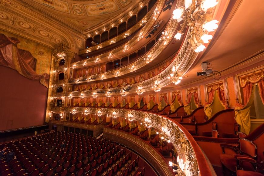 Interior of Teatro (Theatre) Colón, Congreso, Buenos Aires, Argentina
