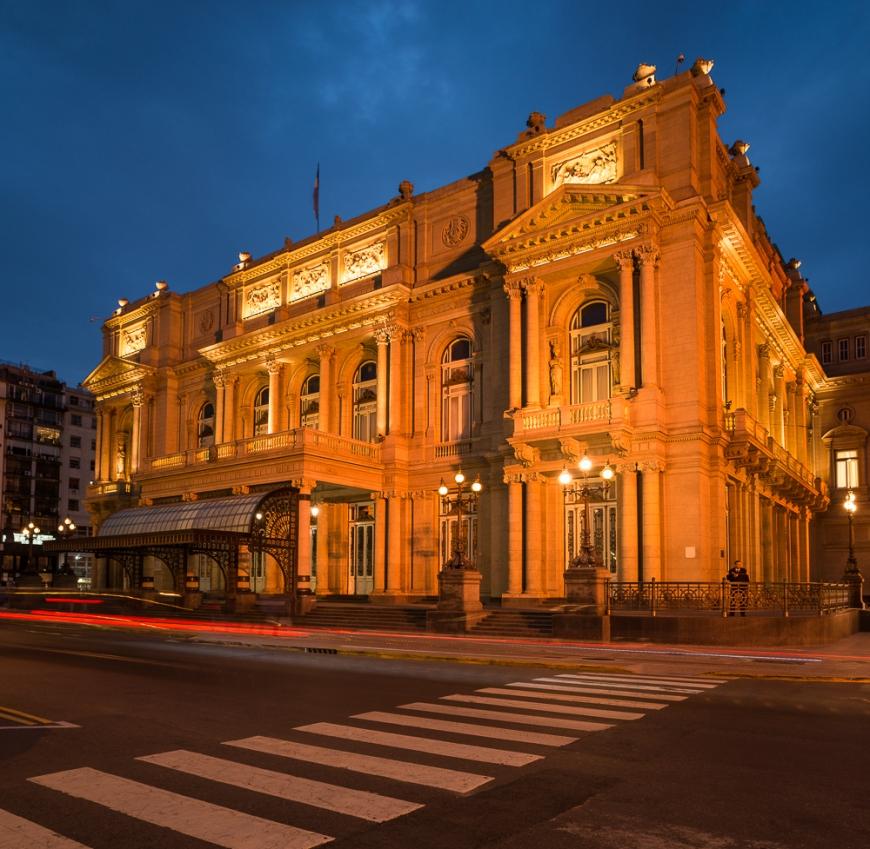 Exterior of Teatro (Theatre) Colón, Congreso, Buenos Aires, Argentina