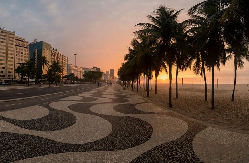 Copacabana at dawn, Rio de Janeiro, Brazil