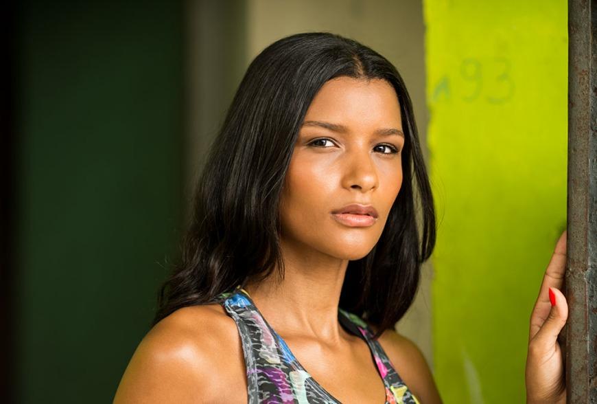 Monique in Santa Marta Favela, Rio de Janeiro, Brazil