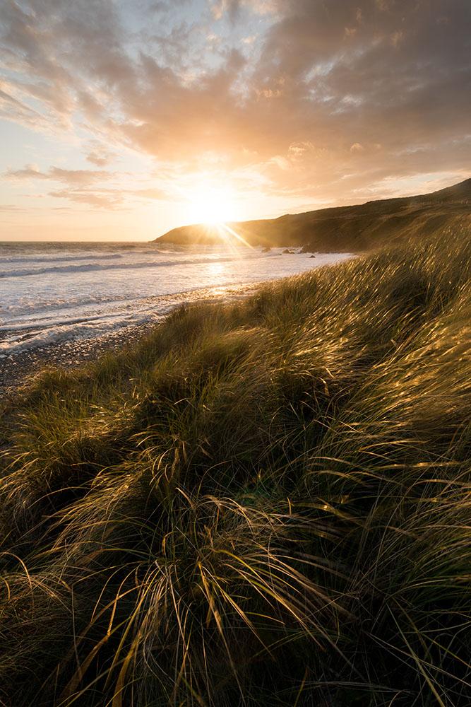 Sunset over The Pembrokeshire Coast National Park, Wales, UK