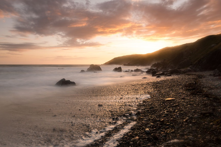 Dusk, Pembrokeshire Coast National Park, Wales, UK