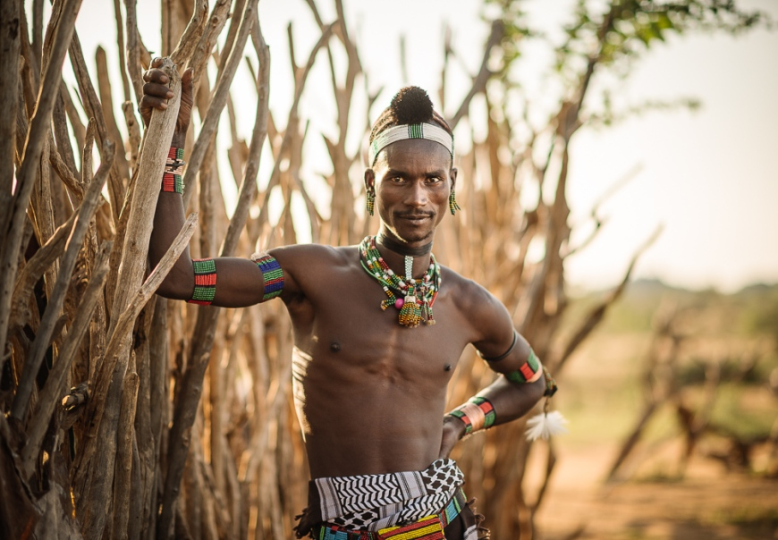 Portrait of Sabe, Hamar Tribe, Omo Valley, Ethiopia