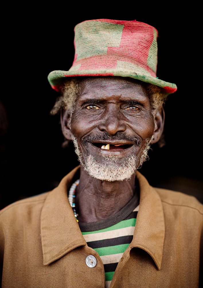 Portrait of Gela Dulla, Adulba Market, Hamar Tribe, Omo Valley, Ethiopia