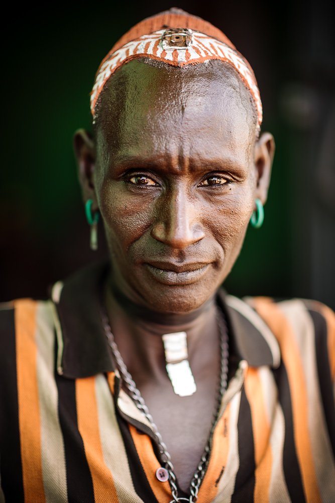 Portrait of Bashe, Adulba Market, Omo Valley, Ethiopia