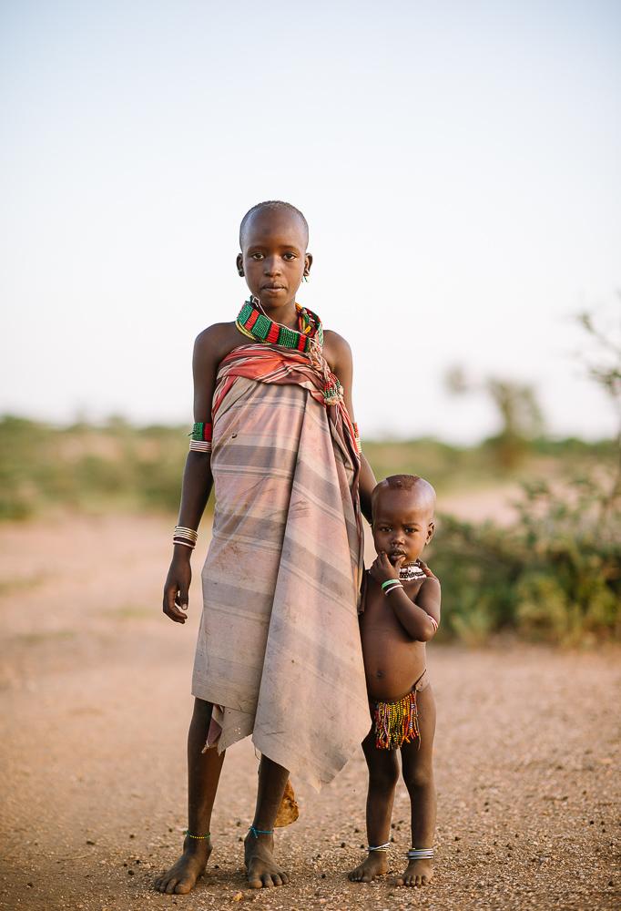 Children from Hamar tribe, Omo Valley, Ethiopia