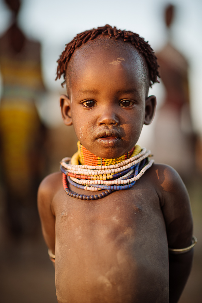 Portrait of Gadi, Hamar Tribe, Omo Valley, Ethiopia