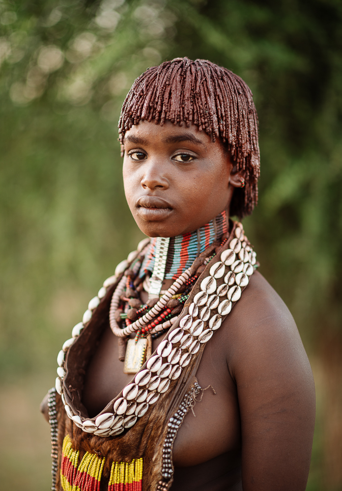 Portrait of Warka, Hamar Tribe, Omo Valley, Ethiopia