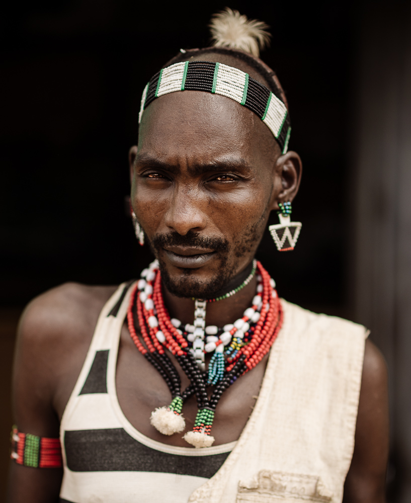 Portrait of Hama from Hamar Tribe, Turmi Market, Omo Valley, Ethiopia