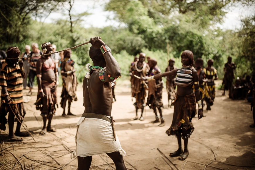 Jumping of the Bulls Ceremony, Hamar Tribe, Turmi, Omo Valley, Ethiopia