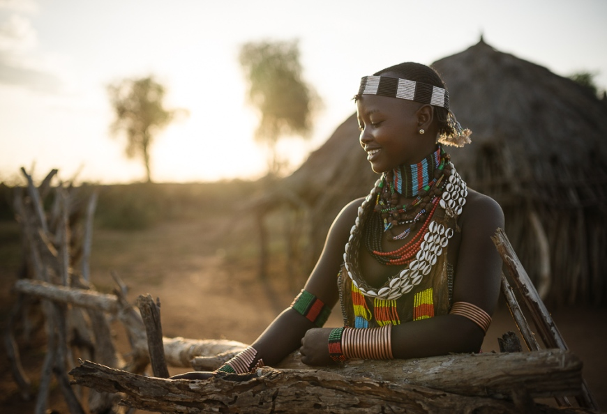Portrait of Canekiy, Hamar Tribe, Omo Valley, Ethiopia