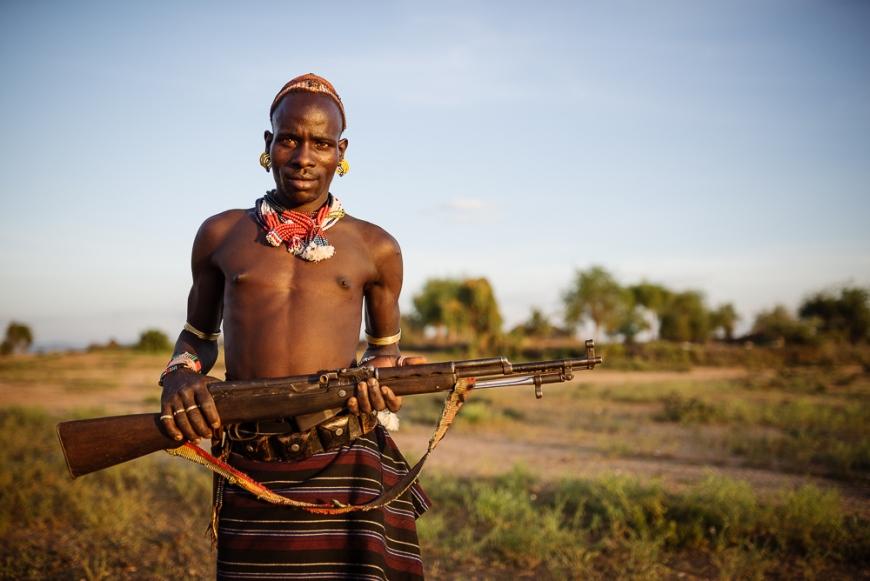 Portrait of Shada, Hamar Tribe, Omo Valley, Ethiopia