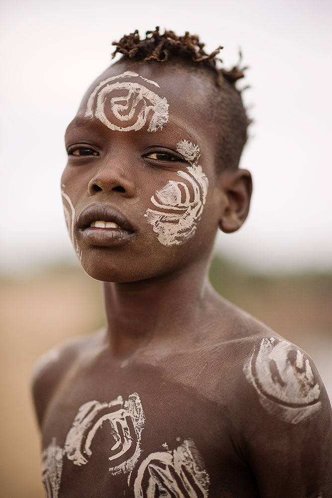 Portrait of Lale, Kara Tribe, Duse Village, Omo Valley, Ethiopia