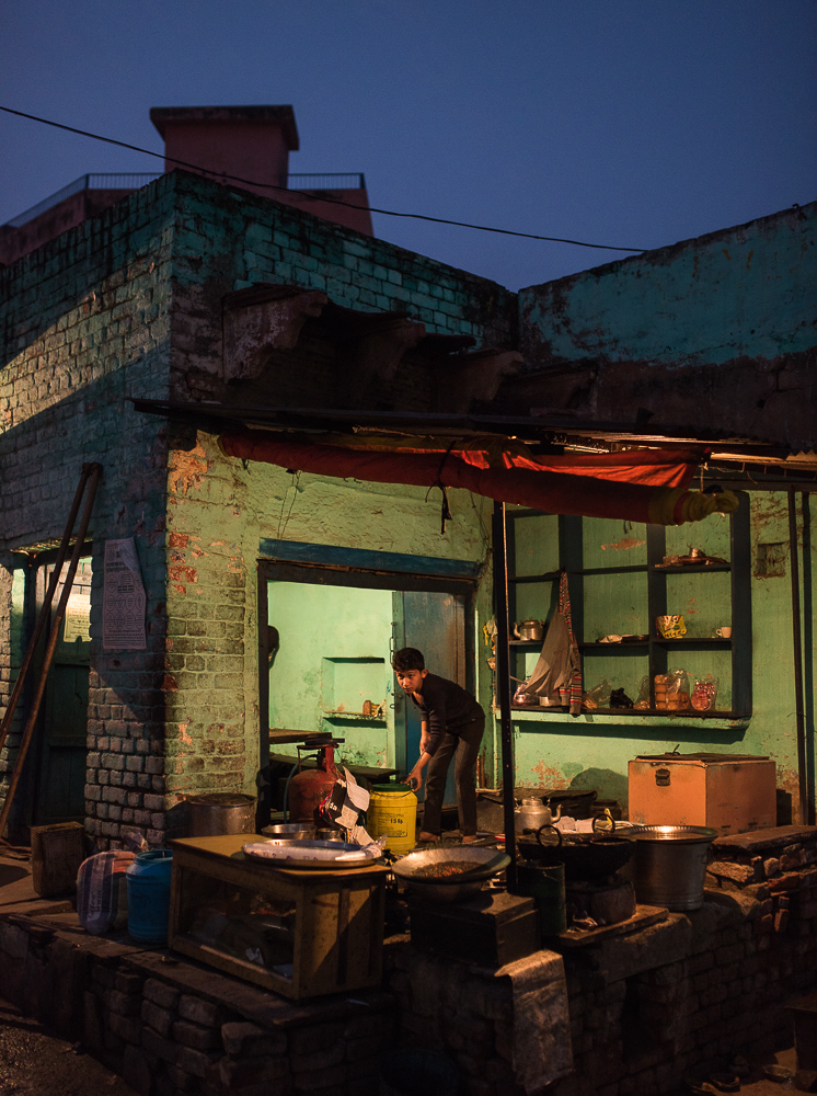 Restaurant at night, Agra, Uttar Pradesh, India