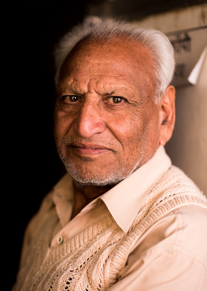 Portrait of man, Agra, Uttar Pradesh, India