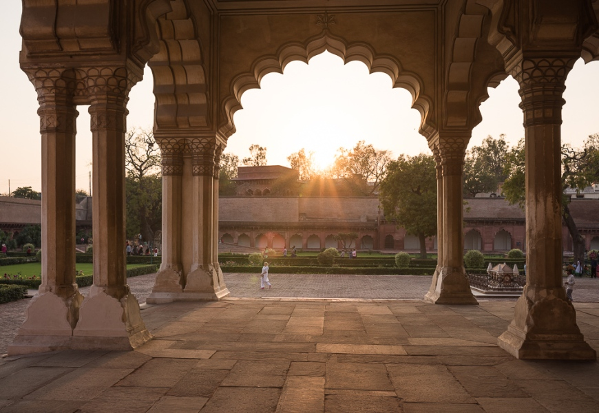 Agra Fort at sunset, Agra, Uttar Pradesh, India