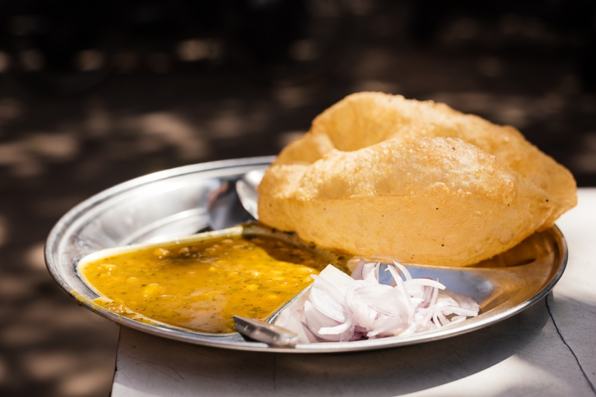 Chole Bhature Dish , Sector 7, Chandigarh, Punjab / Haryana Province, India