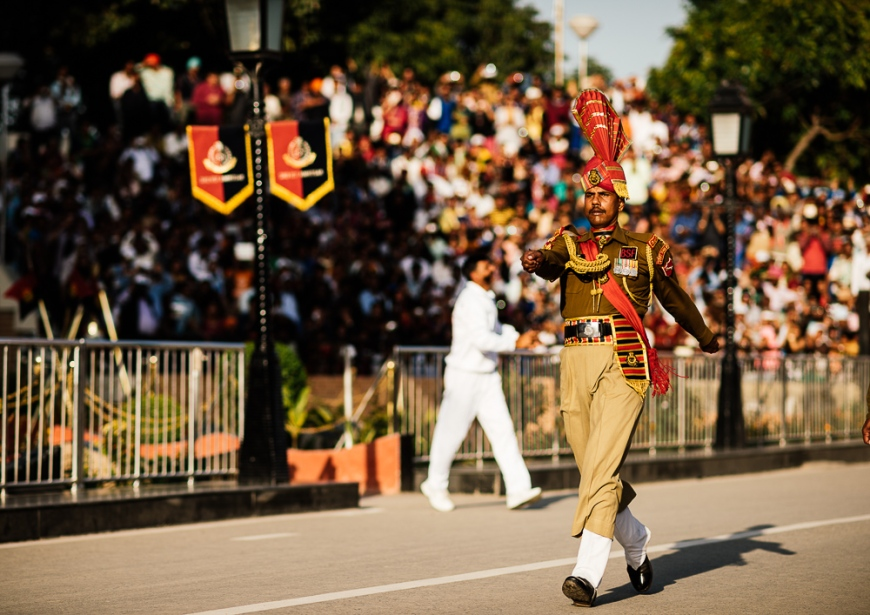 Wagha Border Ceremony, Attari, Punjab Province, India