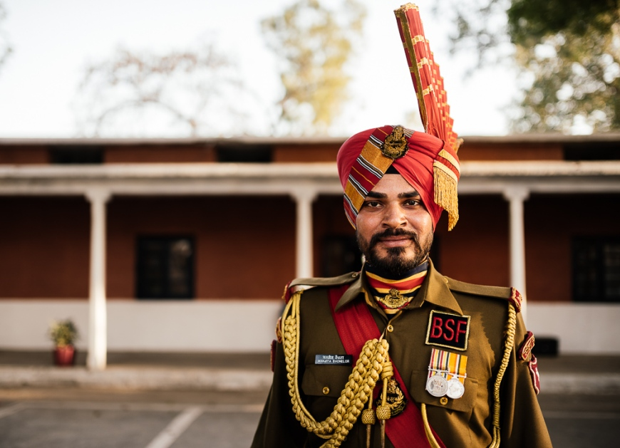 Indian Guard, Wagha Border Ceremony, Attari, Punjab Province, India