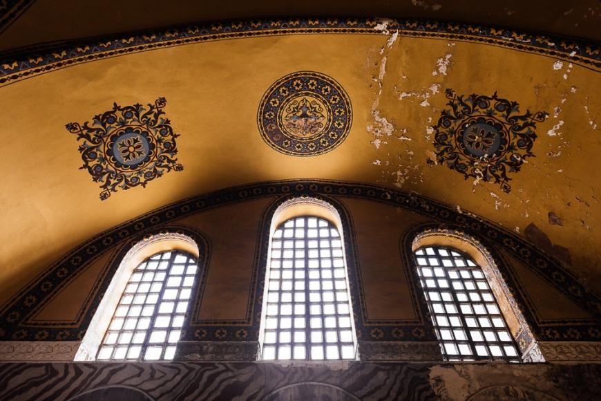 Interior of Hagia Sofia (Aya Sofya), Sultanahmet, Istanbul, Turkey