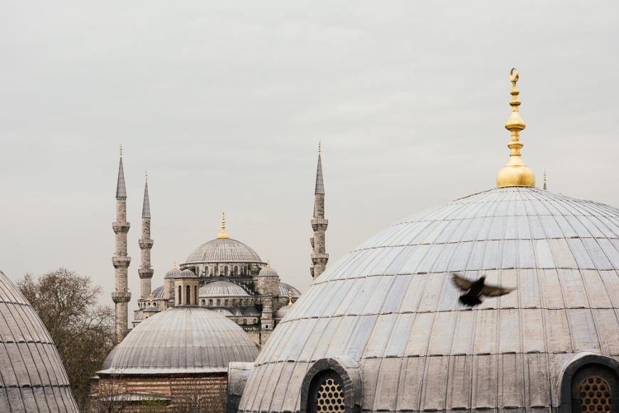 Interior of Aya Sofya, Istanbul, Turkey