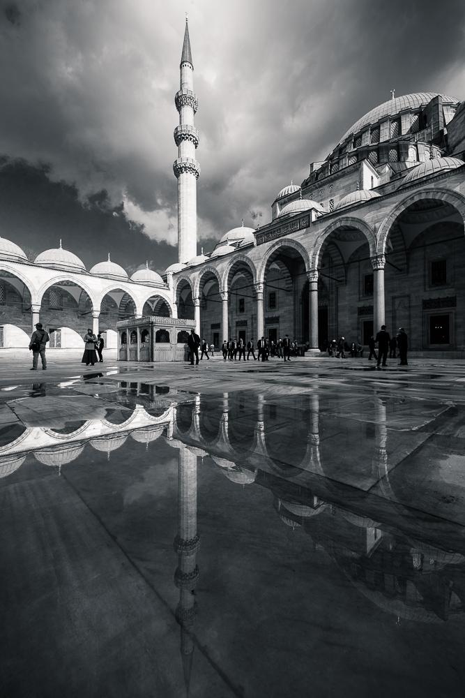 Exterior of Süleymaniye Mosque, Istanbul, Turkey
