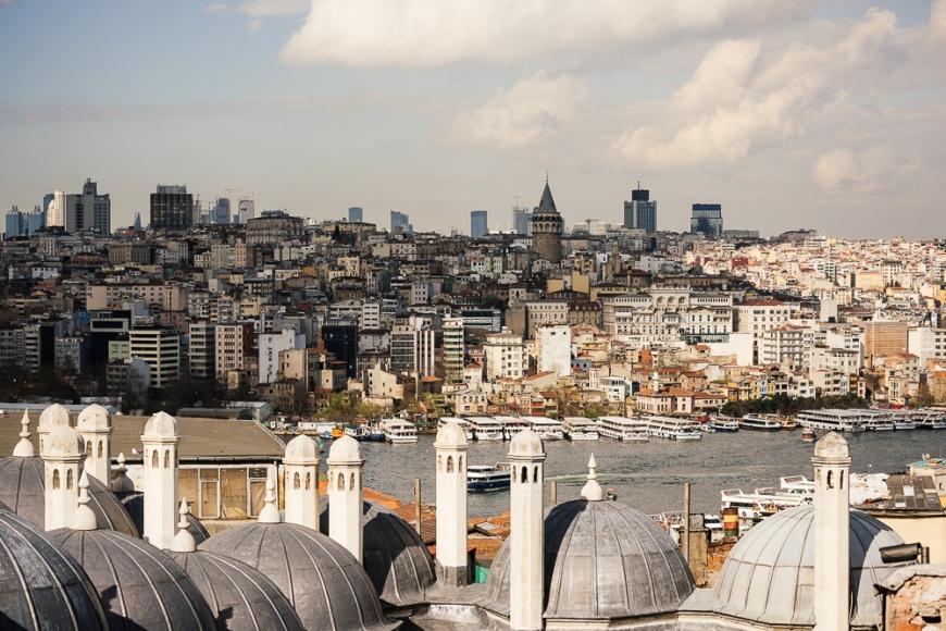 View from Süleymaniye Mosque, Istanbul, Turkey