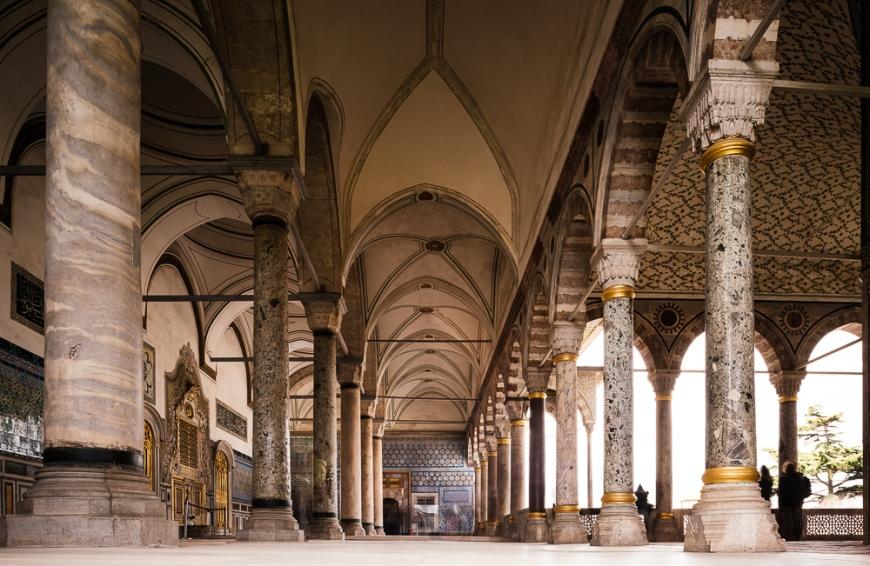 Interior of Topkapi Palace, Sultanahmet, Istanbul, Turkey