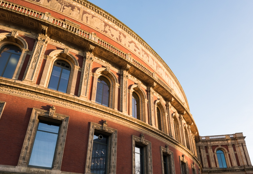 Exterior of Royal Albert Hall, London, England, UK