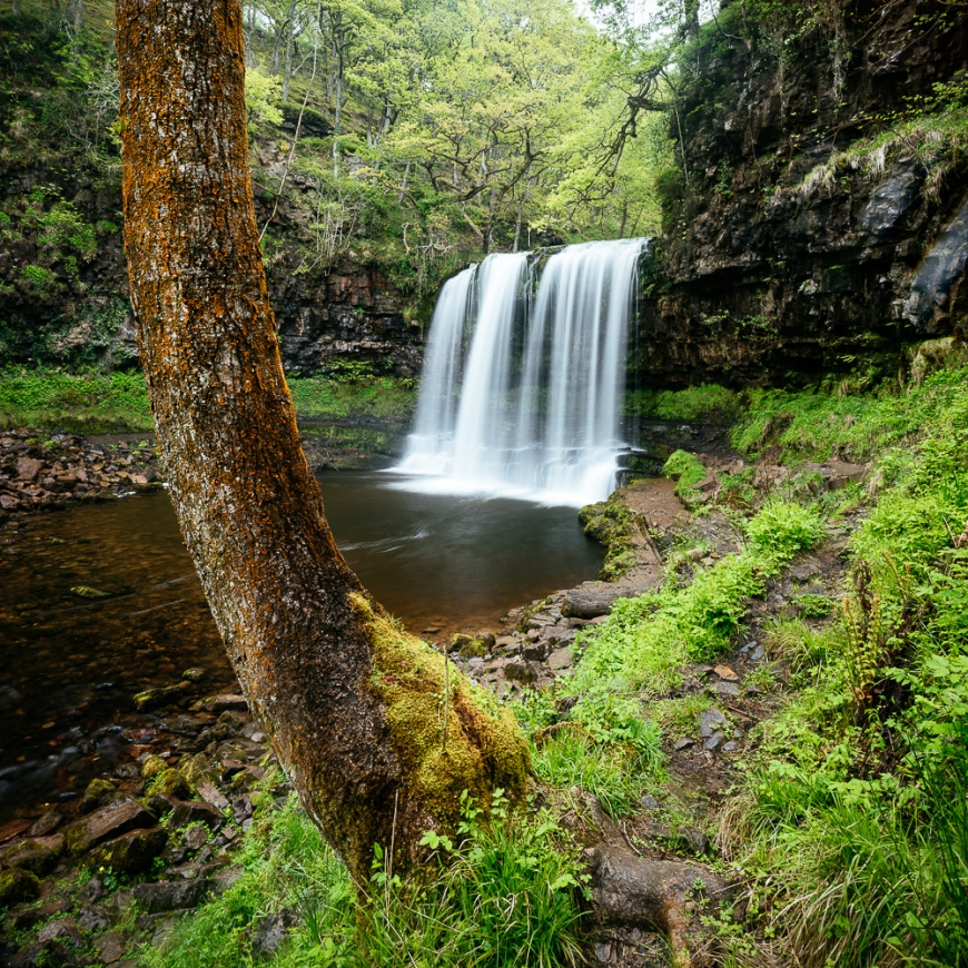 Sgwd yr Eira, Waterfall Country, Brecon Beacons  National Park, POWYS, Wales