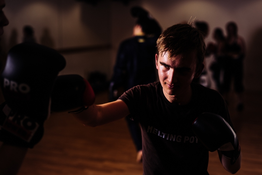 Boxing training at Holburn, London