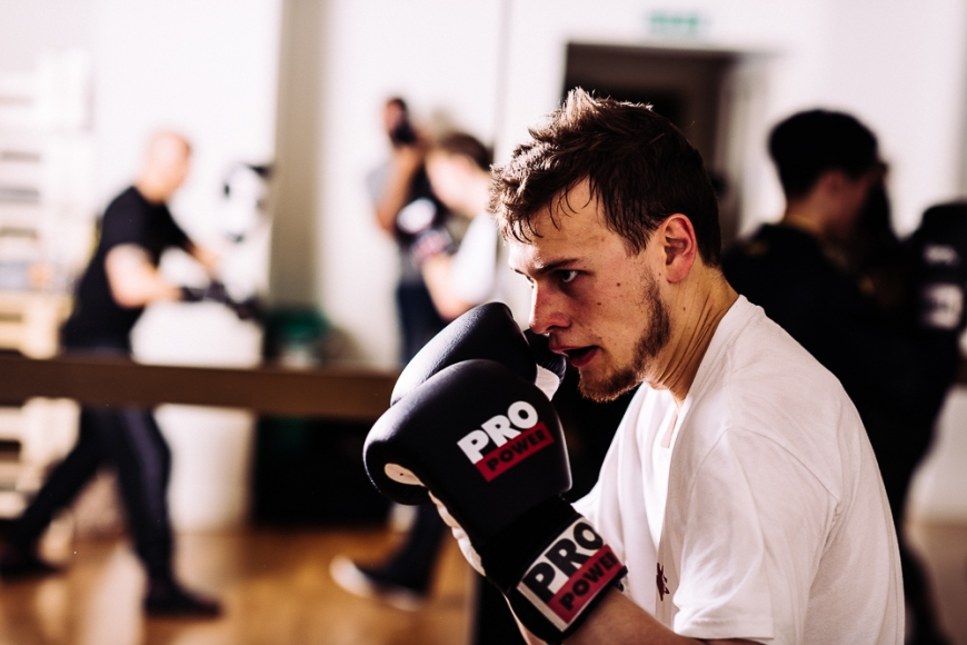 Boxing training at Holburn, London