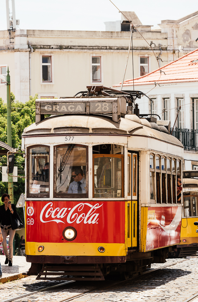 Tram, Portas do Sol, Lisbon, Portugal