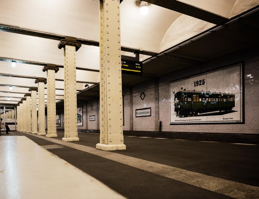 Interior of Klosterstrasse, Underground station, Berlin, Germany, Europe