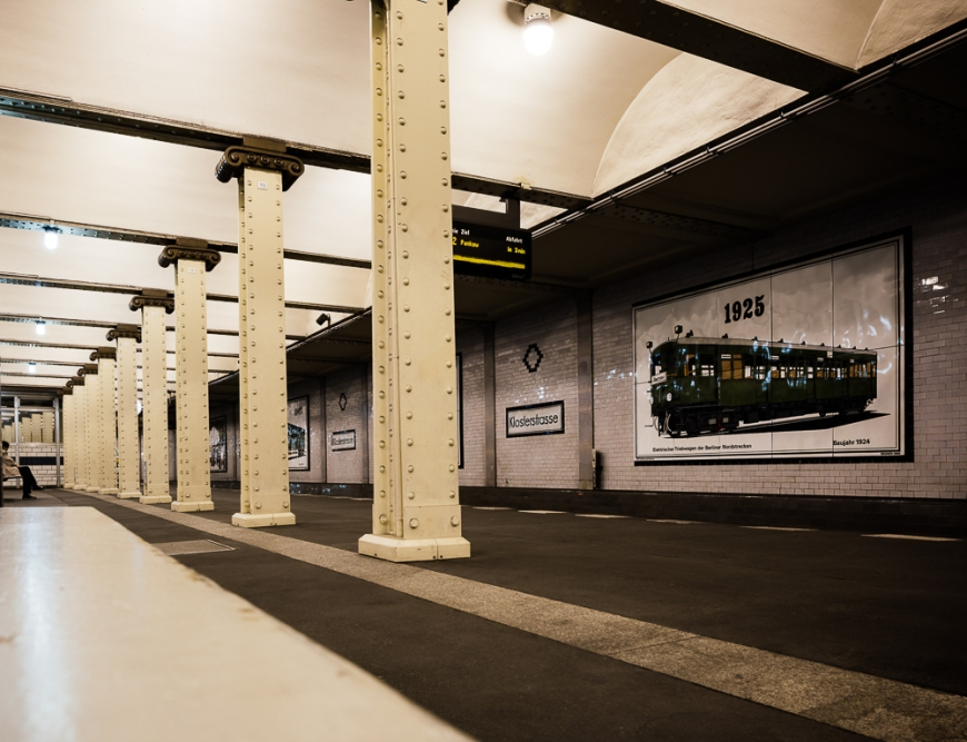 Interior of Klosterstrasse, Underground station, Berlin, Germany, Europe