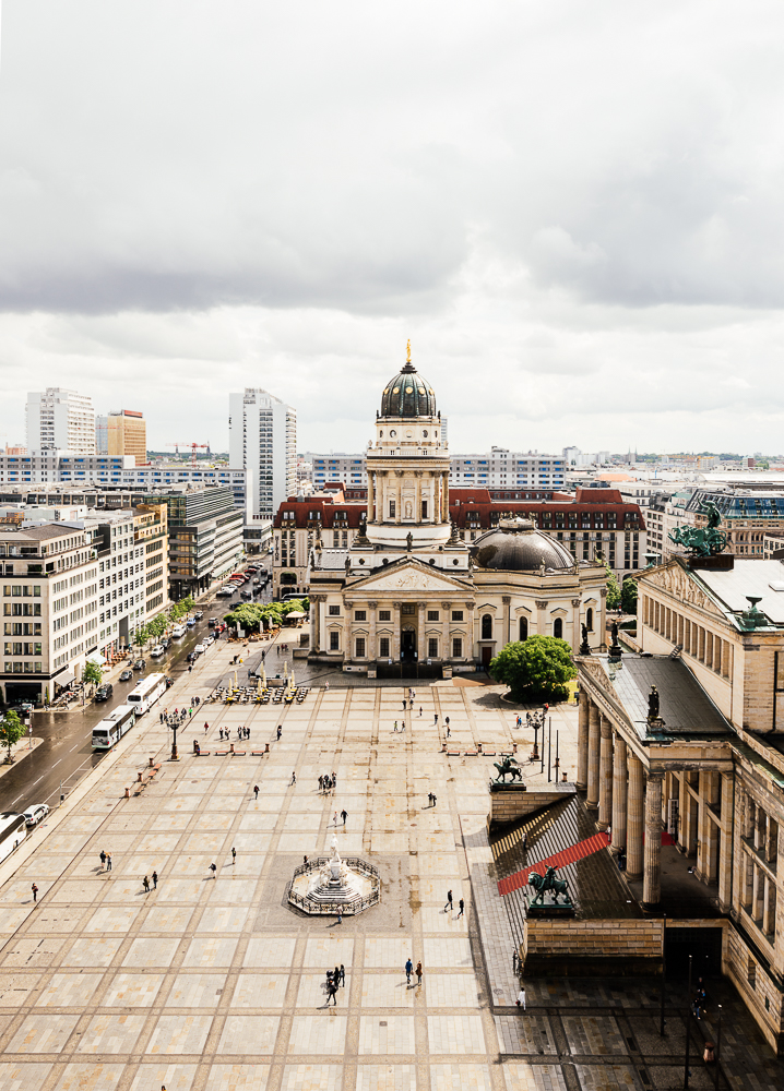 View of French Cathderal and Konzerthaus, Gendarmenmarkt, Berlin, Germany, Europe