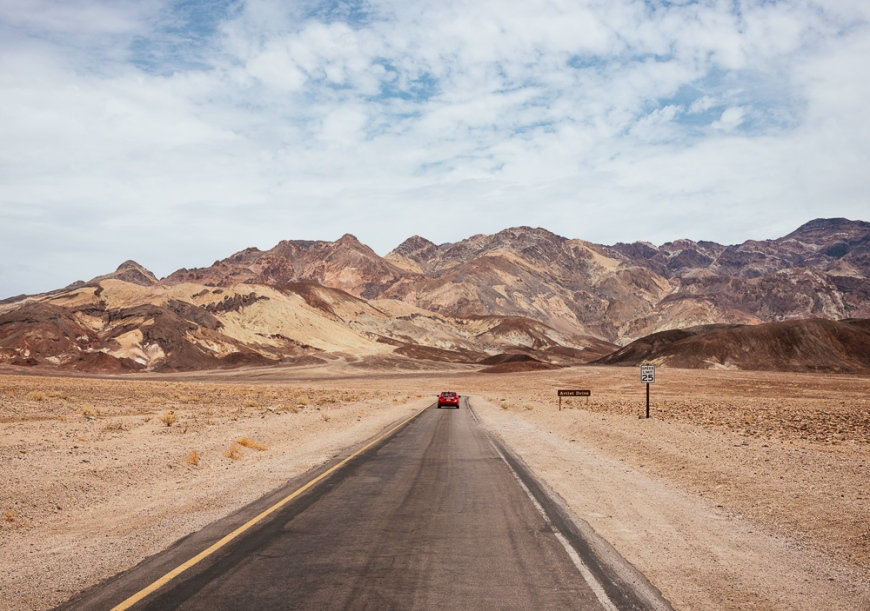 Road to Artist Point, Death Valley National Park, California, USA