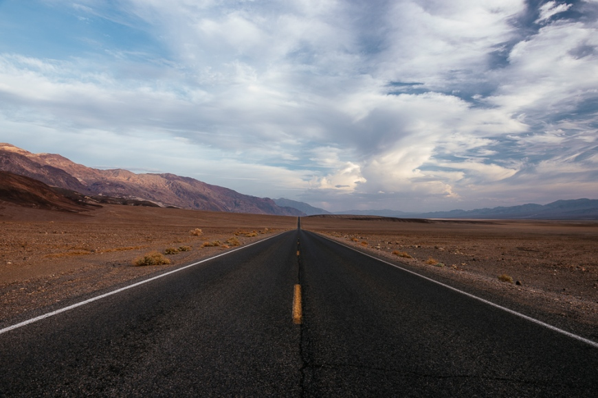 Highway 190 through Death Valley National Park, California, USA