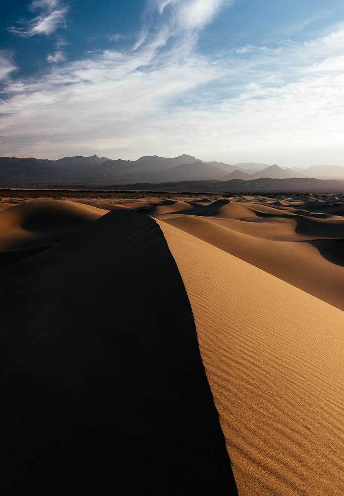 Mesquite Sand Dunes at dawn, Death Valley National Park, California, USA