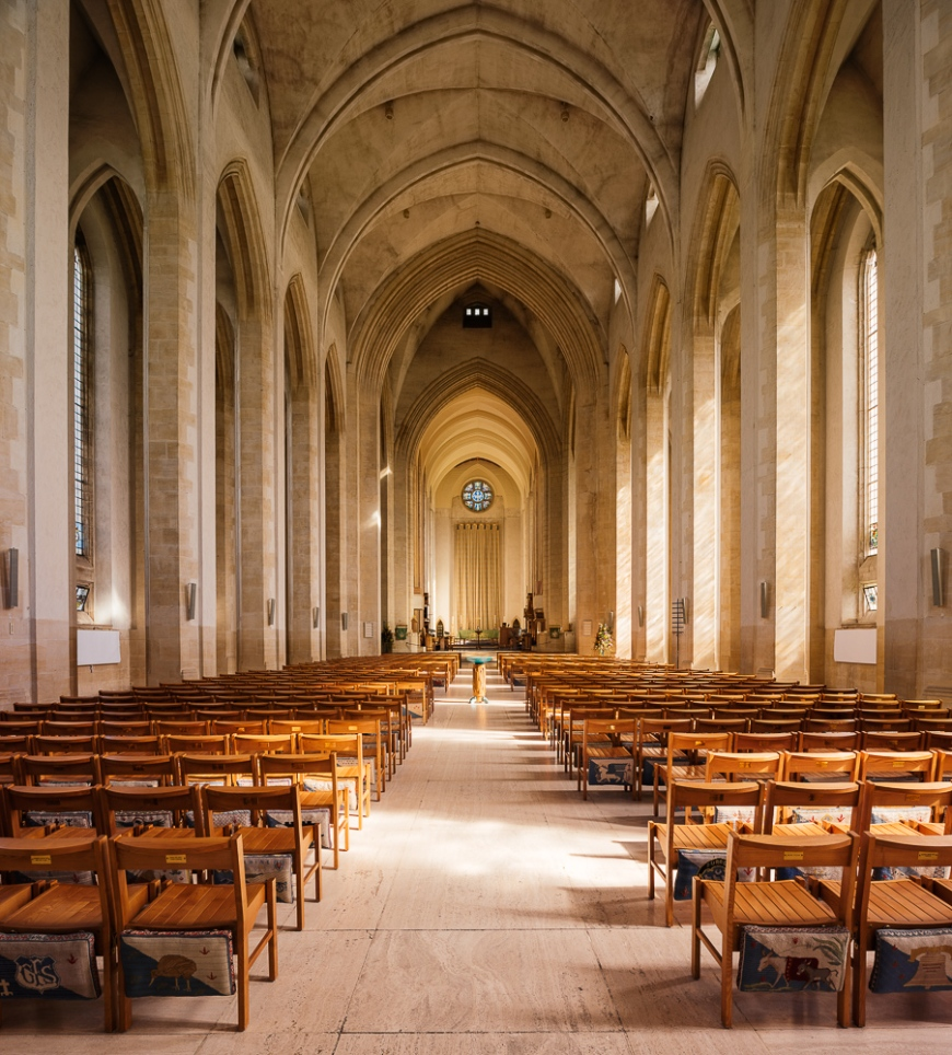 Interior of Guildford Cathedral, Guildford, Surrey, England