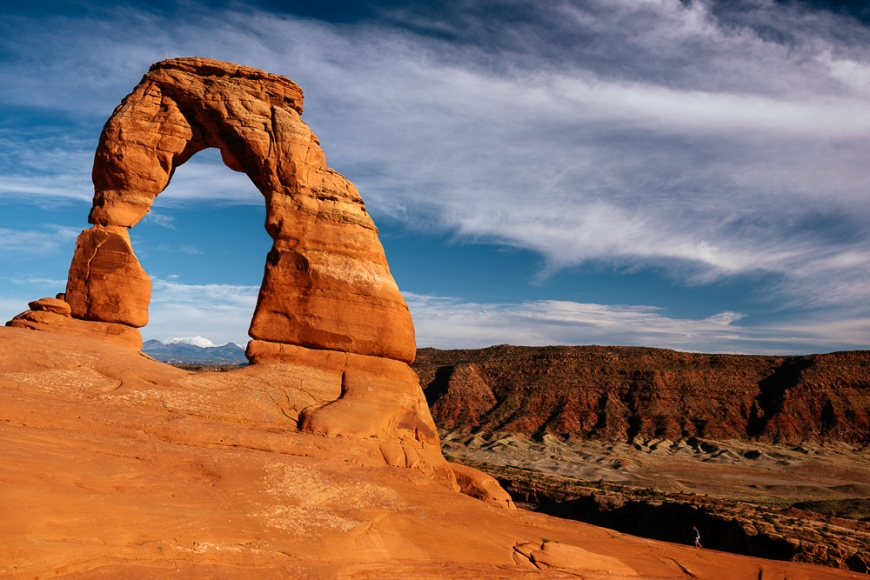 Delicate Arch at dusk, Arches National Park, Utah, USA