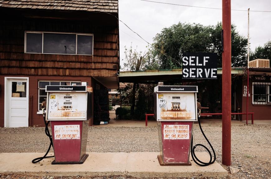 Motel & Gas Station on Highway 163, Utah, USA