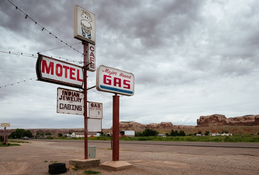 Motel & Gas Station on Highway 163, Utah, USA