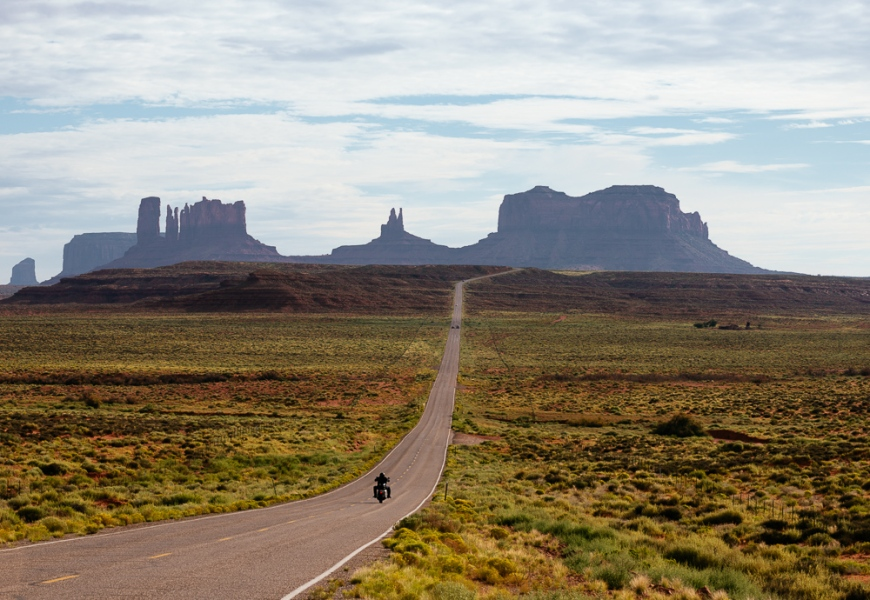Highway 163 to Monument Valley, Utah, USA