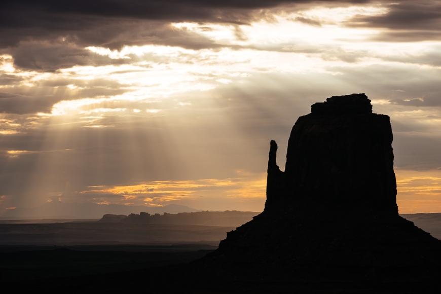 Monument Valley Navajo Tribal Park at dawn, Utah, USA