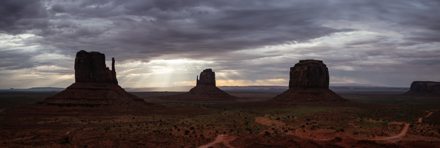 The Mittens and Merrick Butte, Monument Valley Navajo Tribal Park, Utah, USA