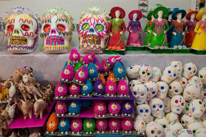 Dia de los Muertos Souvenirs, San Miguel de Allende, Guanajuato, Mexico