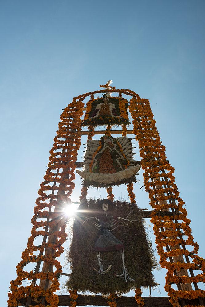Dia de los Muertos Decorations, Uricho, Lake Patzcuaro, Michoacán, Mexico