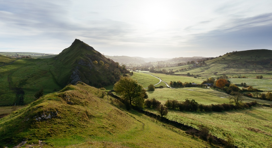 Sunrise from Chrome Hill, Peak District, Derbyshire, England, UK