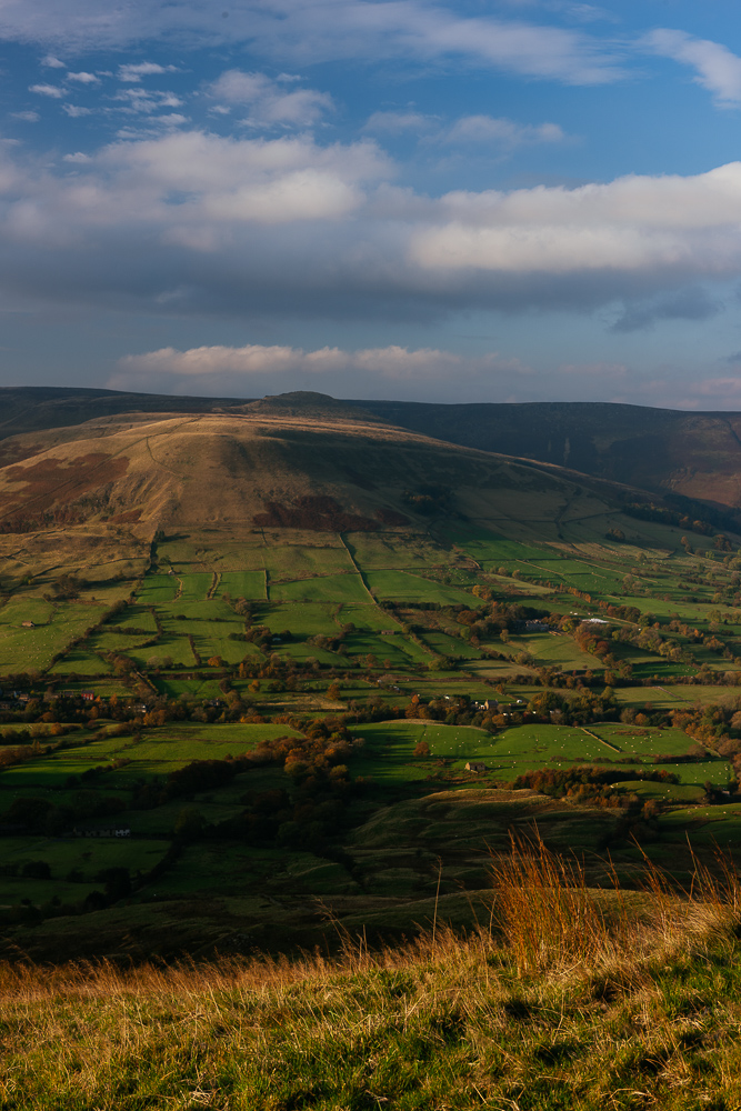 View from Mam Tor, Peak District, Derbyshire, England, UK